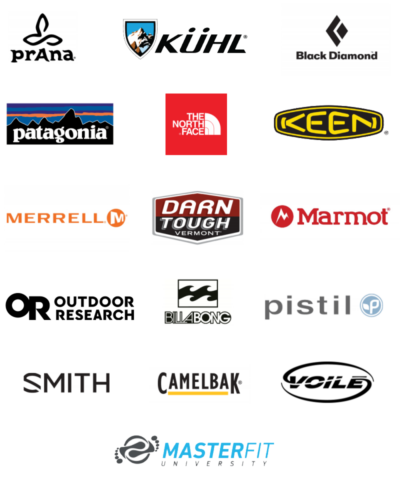 Logos of a few brands sold at Salida Mountain Sports